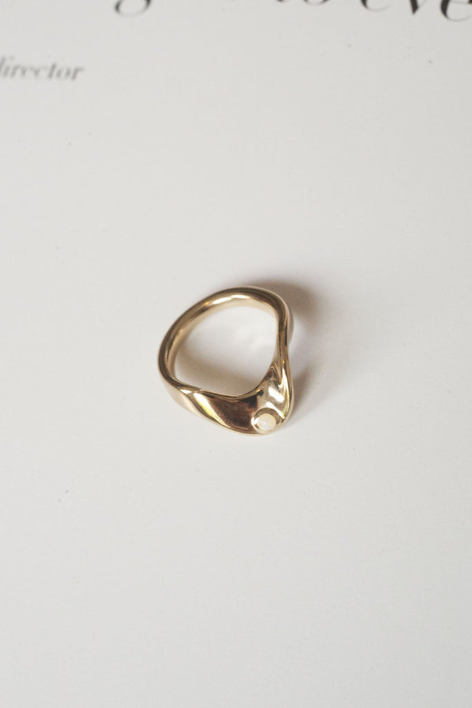 TRINE TUXEN, Wave Ring, Gold, 002
