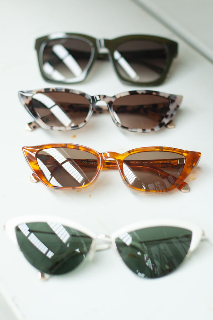 KATE YOUNG FOR TURA, Fawn Sunglasses, Amber