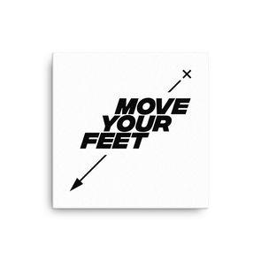Move Your Feet (black on canvas)