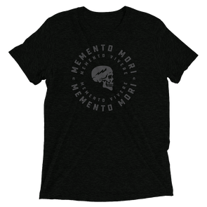 Memento Mori. (Gray on tri-blend)
