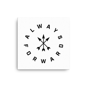 Always Forward (black on canvas)