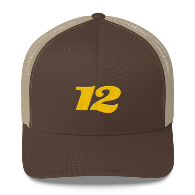 No. 12 Trucker Hat (gold)