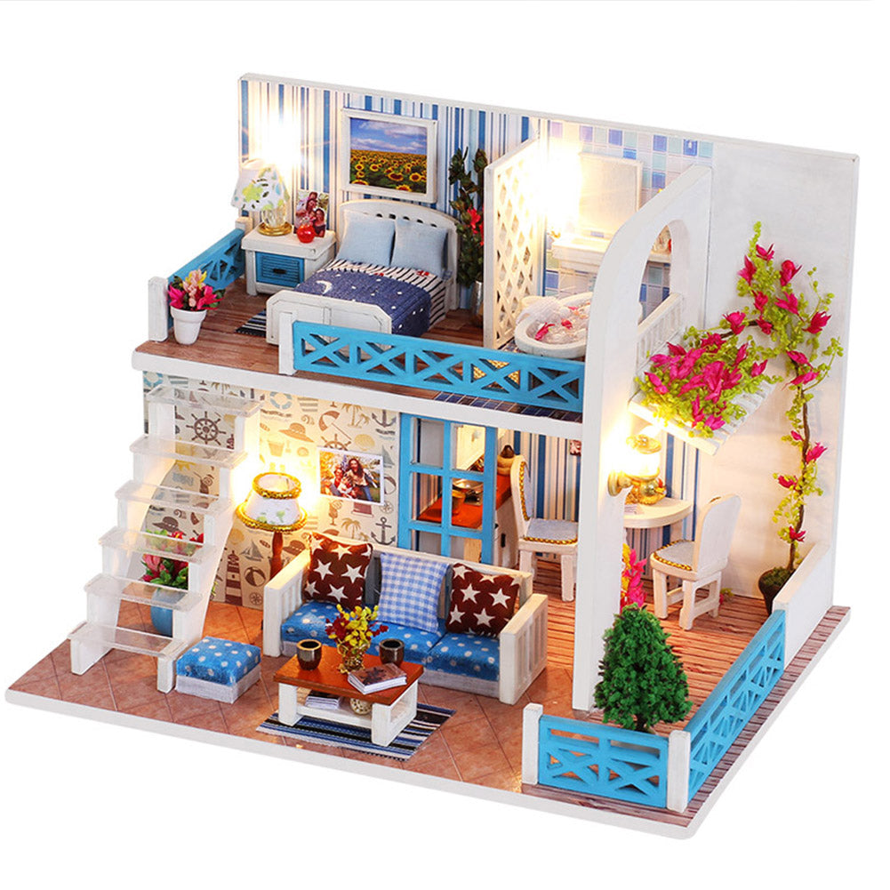 Dolllabs Miniature Toy Diy Dollhouse Mini House Kits With Led K019