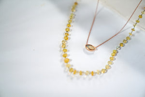 Delicate Opal Bead Necklace