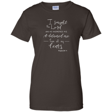 Load image into Gallery viewer, Soulbreather™ Scripture Tee Women's Cut  Psalm 34:4