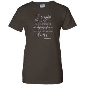 Soulbreather™ Scripture Tee Women's Cut  Psalm 34:4