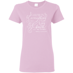 Soulbreather Scripture T-Shirt Women's Cut Acts 17:24,25