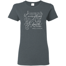 Load image into Gallery viewer, Soulbreather Scripture T-Shirt Women's Cut Acts 17:24,25