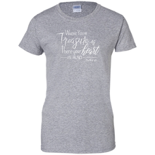 Load image into Gallery viewer, Soulbreather™ Scripture Tee Women's Cut Matt 6:21