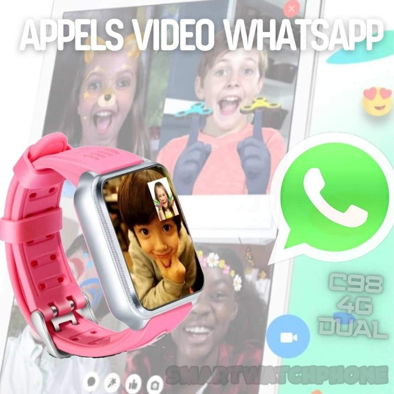appels video whatsapp C98 4G montre enfant