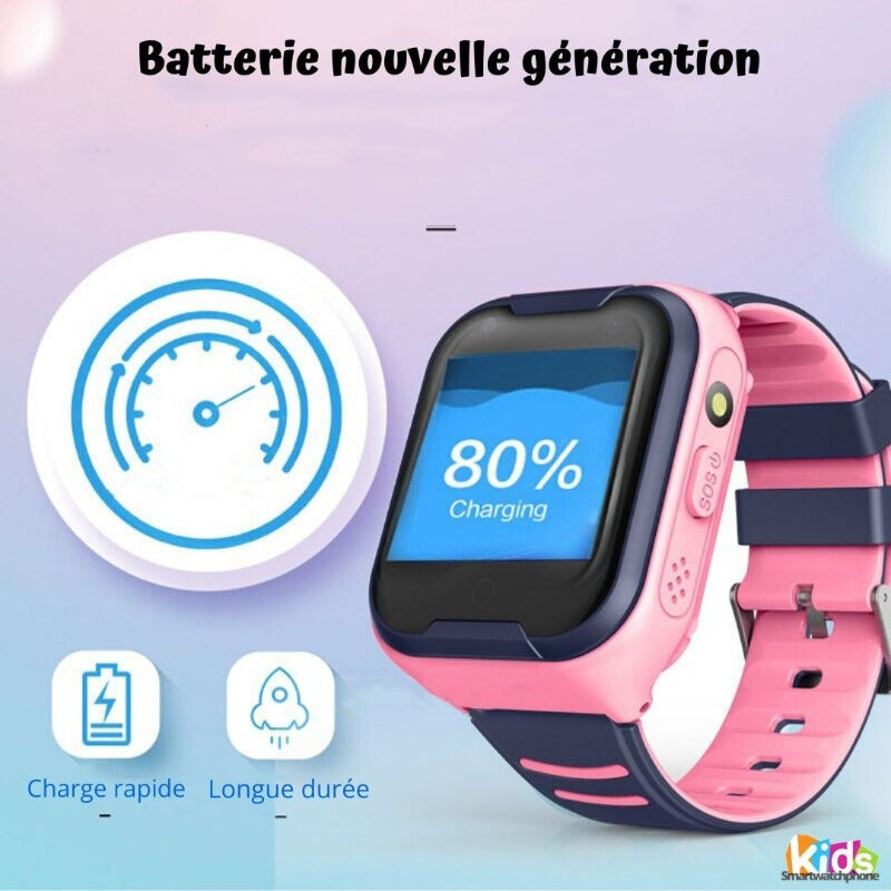 Montre Connectée Enfant GPS C86<br> 4G Wifi Waterproof