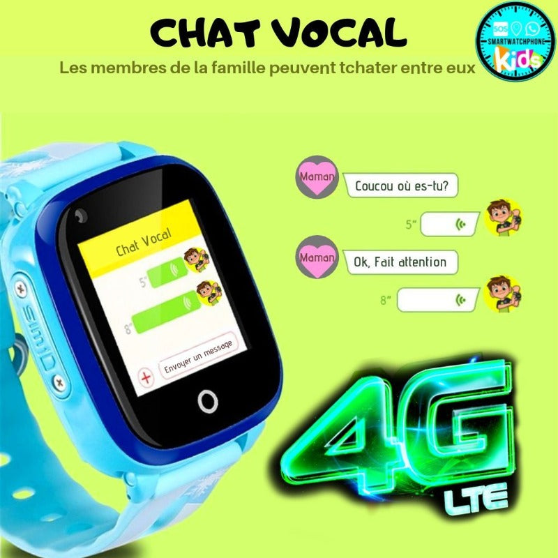 Chat vocal Montre Connectée Enfant 4G