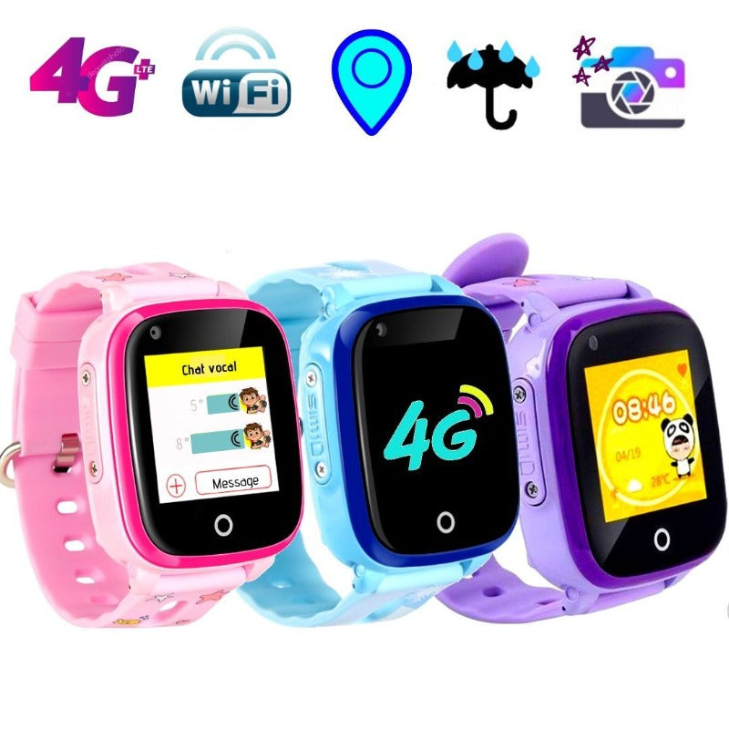Montre Connectée Enfant GPS C80<br> 4G WIFI Waterproof