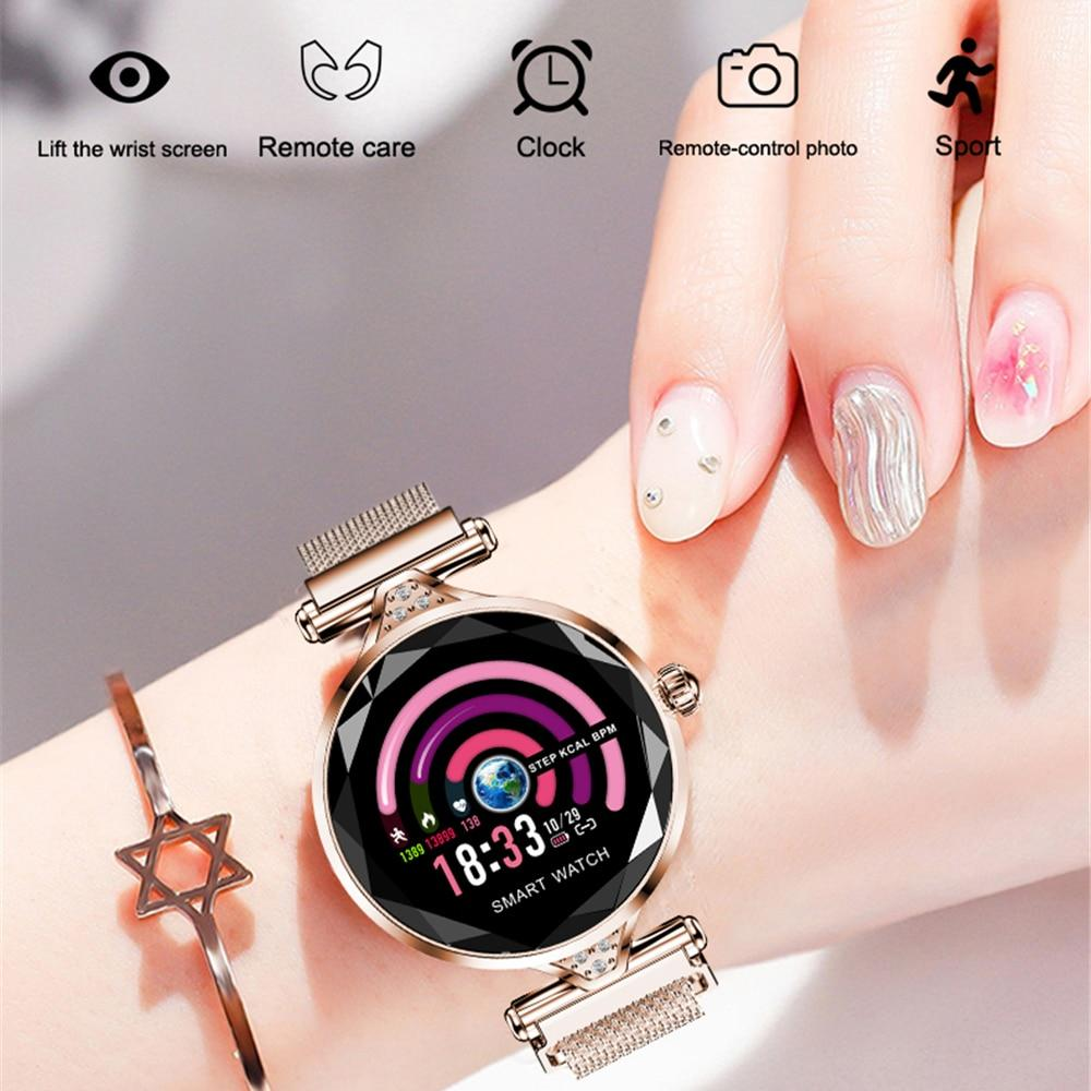 Montre Connectée Femme<br> Fashion Metal W100