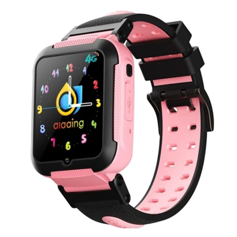 montre connectée ado android rose