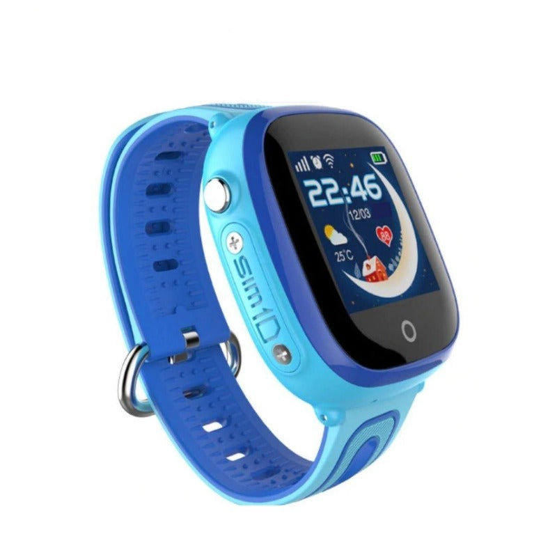 montre gps enfant bleu waterproof