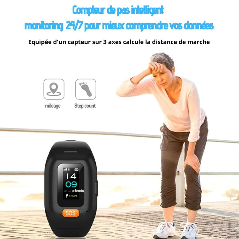 Montre Connectée Senior S13 <br>GPS Waterproof FC