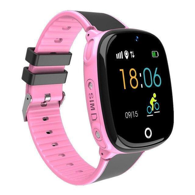 Montre connectée enfant rose waterproof
