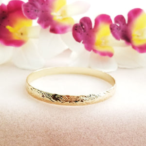 Gold 8mm Hawaiian Bangle
