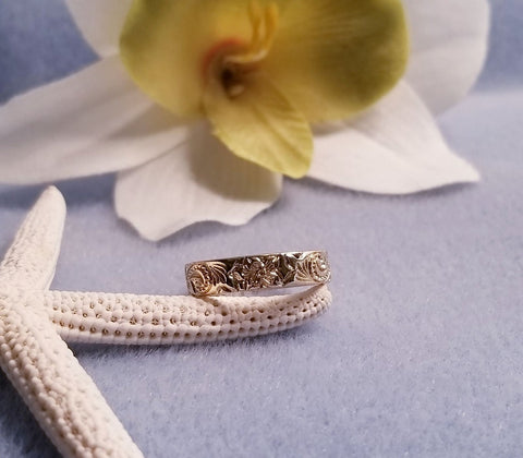 4mm Gold Hawaiian Heirloom Ring