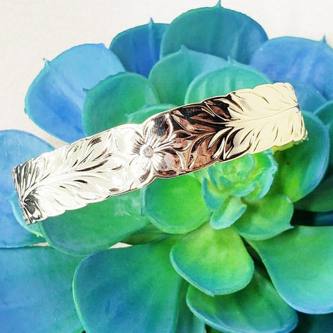 15mm Royal Maile Lei Bangle