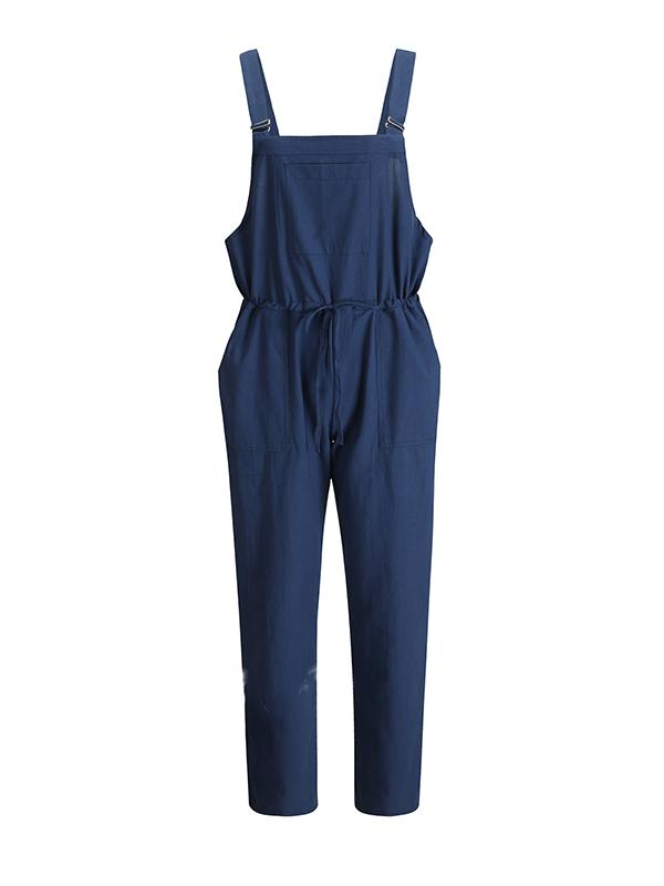 Casual Loose Signature Cotton Jumpsuits