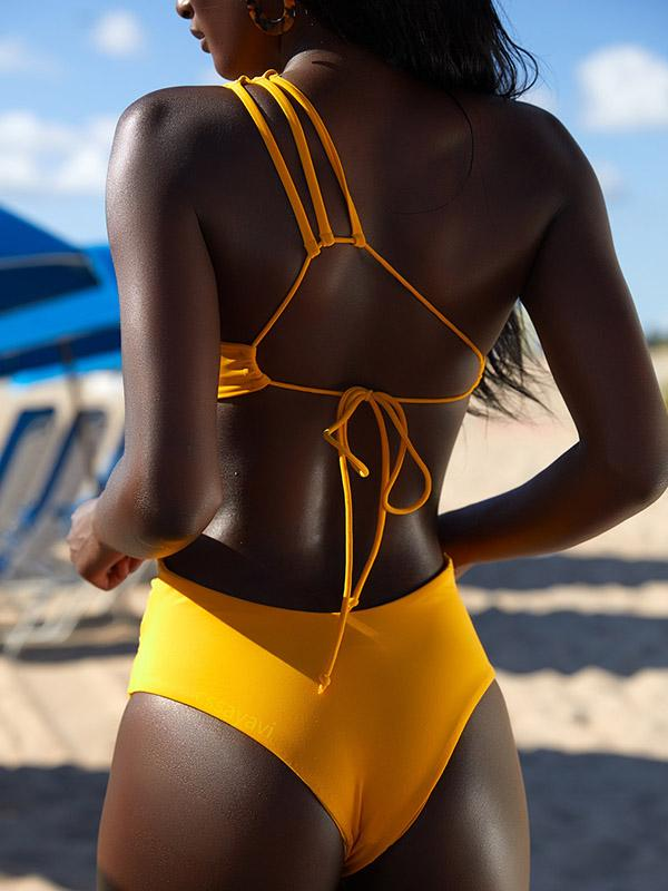 Bandage Lace Up Bikinis Swimwear