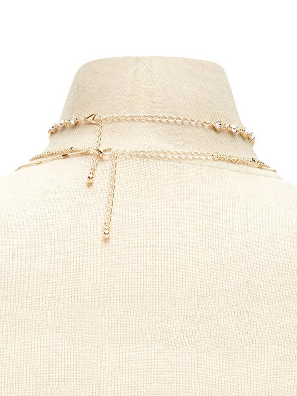 Multilayer Rhinestone Long Necklace