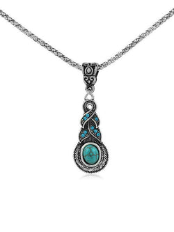Dancette Pattern Turquoise Necklaces Accessories