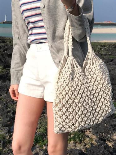 3 Color Handmade Crochet Bohemia String Bag