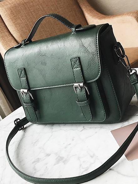 Single-shoulder Solid Color Bag
