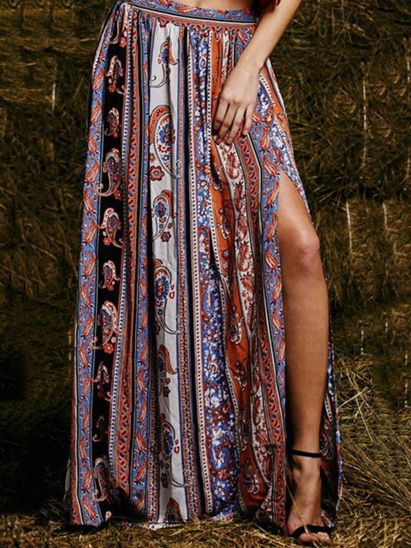 Bohemia Printed Skirt Bottoms