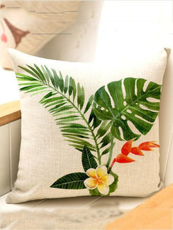 Bohemia Tropical Plant Throw Pillow Case Decoration Accessories
