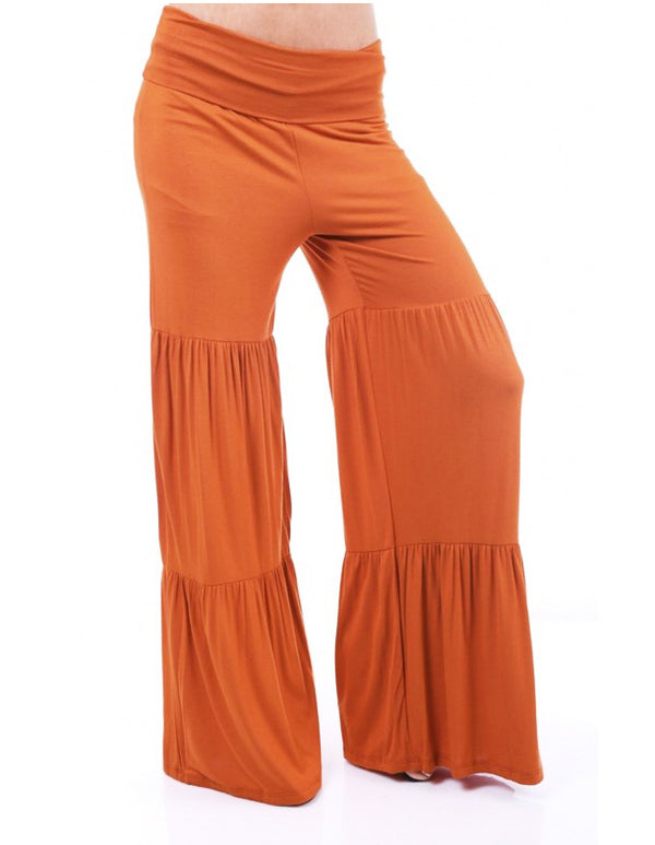 Women's Bohemian Bell-bottom Casual Pants In 10