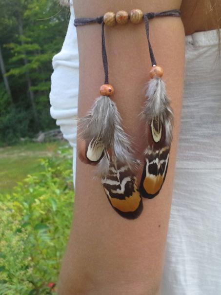 Indian Vintage Feather Arm Chain Accessories