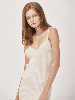Knitting Sexy Simple Solid Midi Dresses