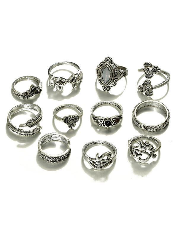Pretty Vintage 11PCS Rings Accessories