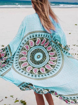 Printed Cover-Up Swimwear