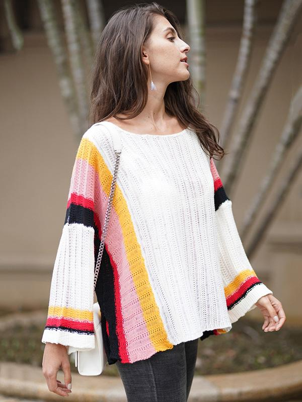 Knitting Split-joint Hollow Beach Cover-ups Swimwear
