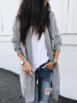 Fashion Long Sleeves Outwears Tops
