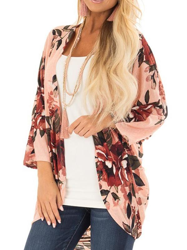 Bohemia Floral Printed Cover-up Outwear