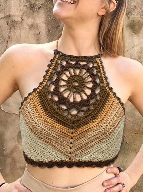 Fashion Knitted Bohemia Tank Tops