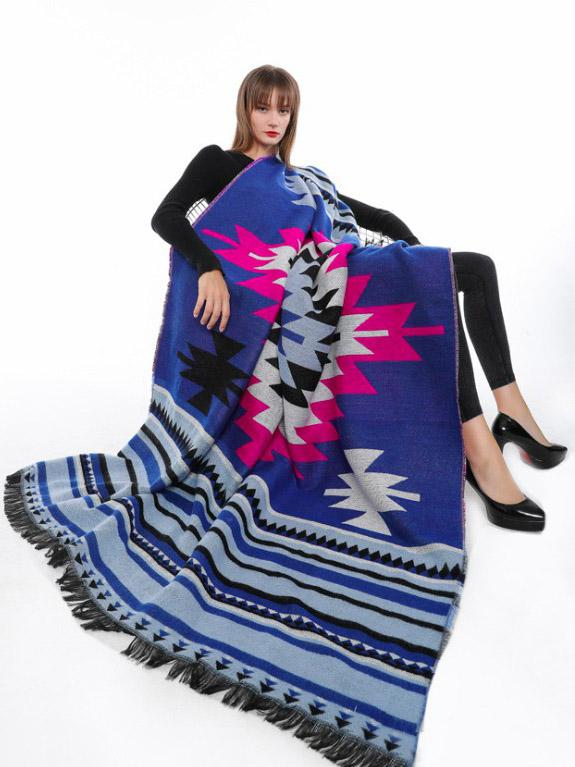 Bohemia 2 Colors Cape Scarf