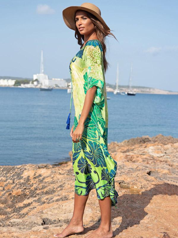 Printed Beach Vacation Cover-up