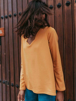 Long Sleeves V-neck Blouses&shirts Tops
