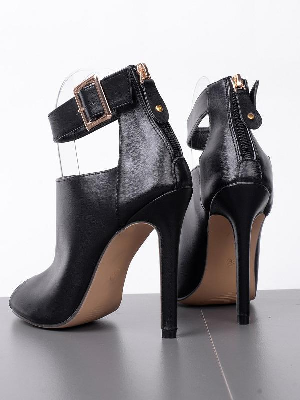 Fashion Solid Color Peep-toe High Heels