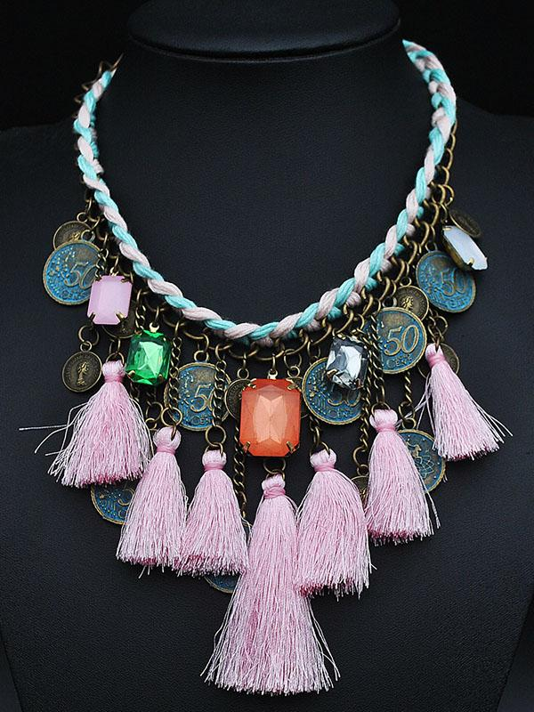 Bohemia Vintage Tasseled Coin Necklace