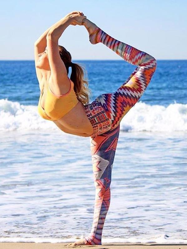 Sports Printed Colorful Wrap Yoga Leggings