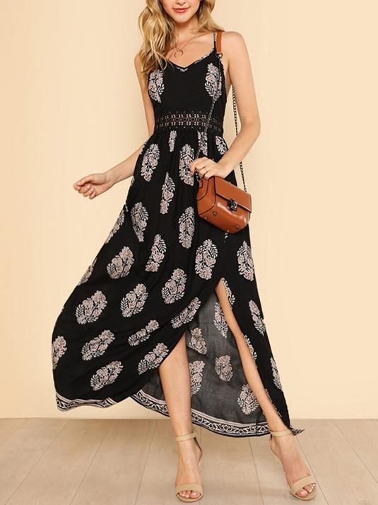 Bohemia Printed Hollow Dresses