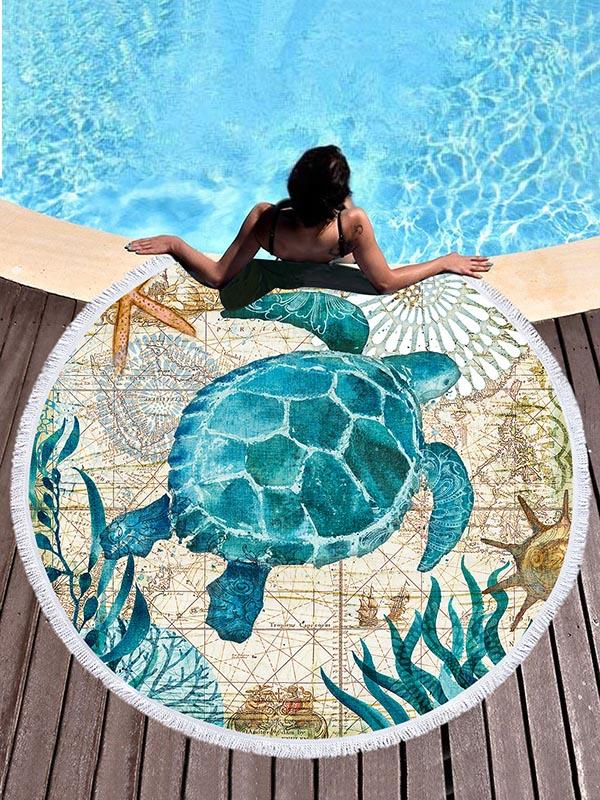 Ultrafine Fiber Undersea World Beach Mats